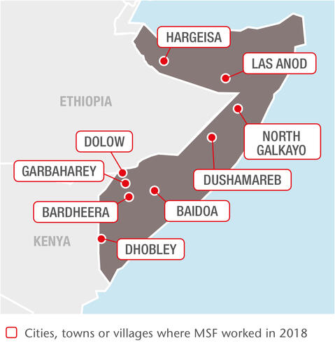 MSF Operations in Somalia in 2018