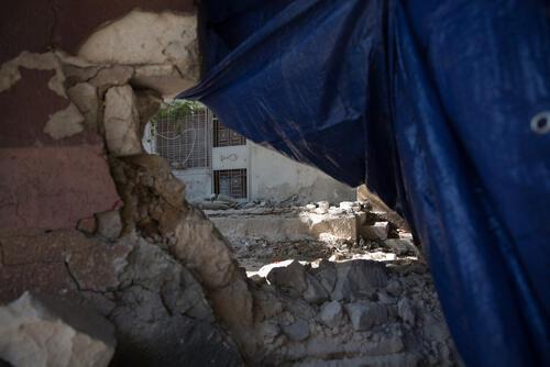 Tripoli damaged building