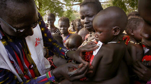 MUAC outside Pibor, South Sudan
