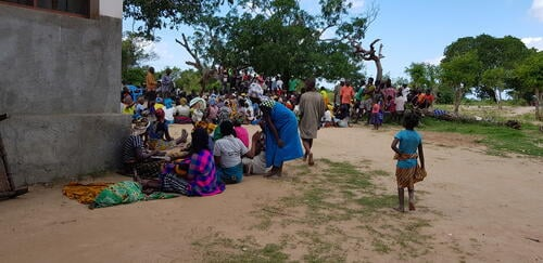 displaced persons camp in Tratara