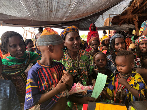 Vaccinations in Mingala, Central African Republic