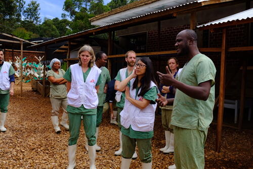 Joanne Liu visiting an ETC in Butembo, DR Congo