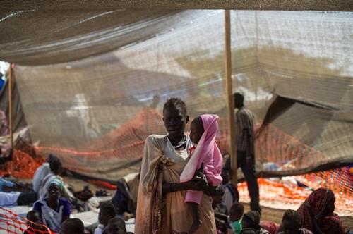 Juba displaced camp clinic 2014 JAN