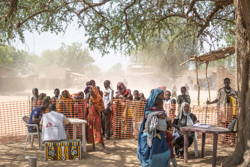 Measles outbreak vaccinations in Am Timan district, Chad
