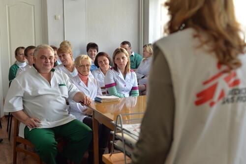 أنشطة أطباء بلا حدود في أوكرانيا