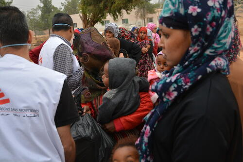 Migrants and refugees in Zintan and Gharyan detention centres in Libya