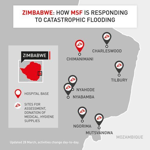 Map Chimanimani emergency response