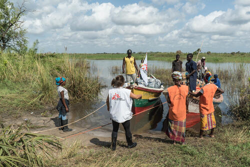 Distributing relief items in remote parts of Mozambique hit by Cyclone Idai