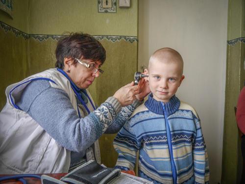 Eastern Ukraine Mobile Clinics - Slavne Village