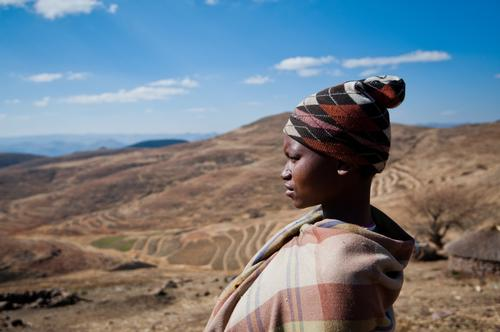 Pregnant and HIV+ Mamotsieleli Molofotsane walks many hours to health center, Lesotho