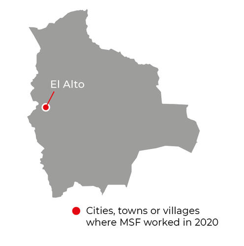 Map of MSF activities in 2020 in Bolivia