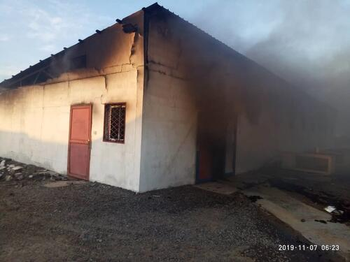 MSF hospital damaged in an attack in Mokha