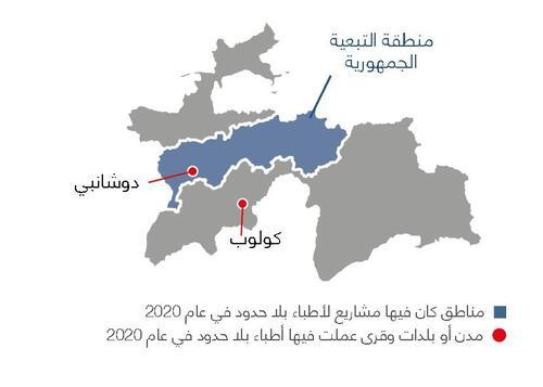 خريطة أنشطة أطباء بلا حدود في طاجيكستان في عام 2020
