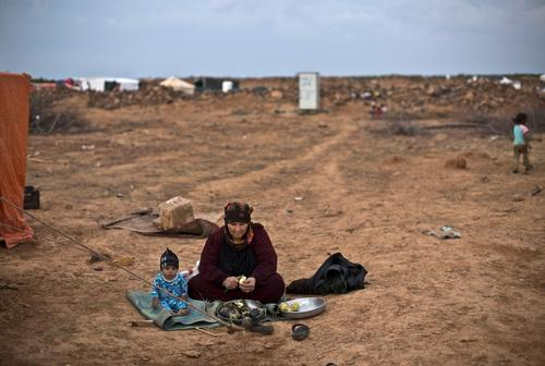 "Syrian Refugees Stranded in the ""Berm"" Jordan/Syria Border"