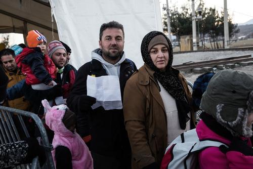 On The Greek Macedonian Border at Idomeni.