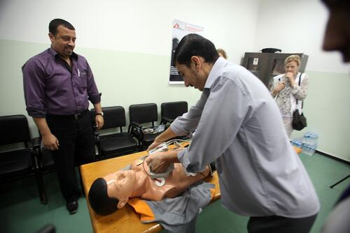Intensive Care training, Al Shifa hospital, Gaza.
