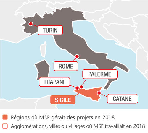 MSF projects in Italy, 2018 - FR
