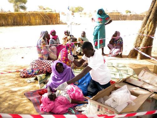 Tissi, Darfur refugees crossed the border