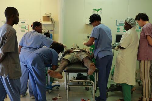 Emergency care in Tabarre hospital