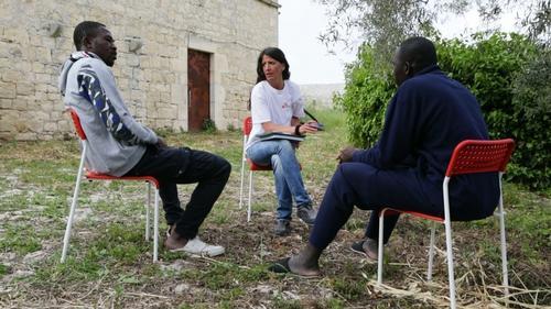 MSF psychologist Gaia Quaranta