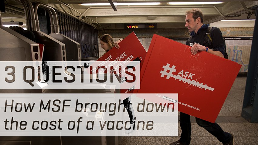 3 Questions: How MSF Brought Down the Price of the Pneumonia Vaccine, EN
