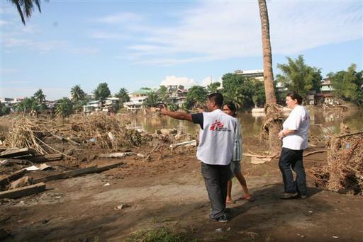 Floods in the region of Mindanao Island